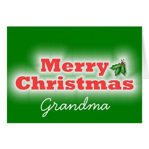 Abuela de las Felices Navidad Felicitacion