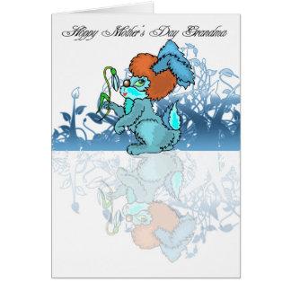 Abuela de lúpulo del día de madre, mimando a tarjeta de felicitación