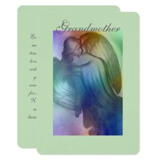 Abuela del ángel del arco iris invitación 11,4 x 15,8 cm
