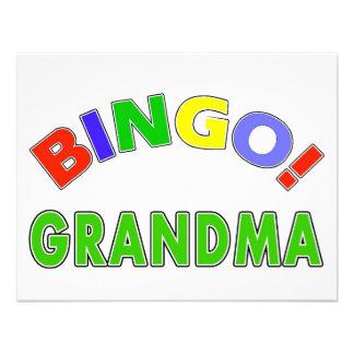 Abuela del bingo comunicado personalizado