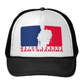 Abuela del ejército de la primera división gorras de camionero