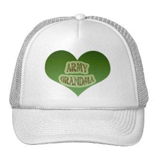 Abuela del ejército gorras de camionero