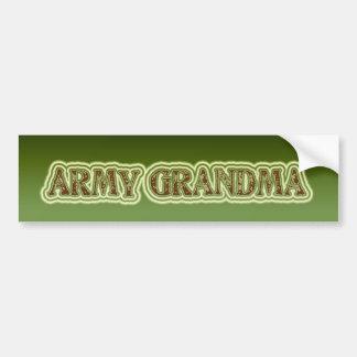 Abuela del ejército pegatina para coche