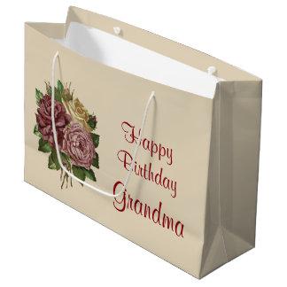 Abuela del feliz cumpleaños bolsa de regalo grande