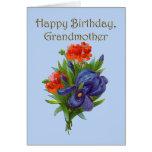 Abuela del feliz cumpleaños tarjeta