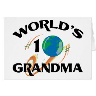 Abuela del número uno del mundo tarjeta de felicitación