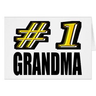 Abuela del número uno felicitación