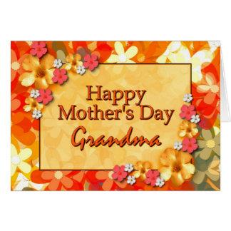 Abuela feliz del día de madre felicitacion