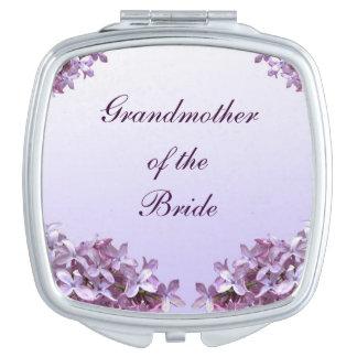 Abuela floral del boda de la lila del espejo de la espejo de maquillaje