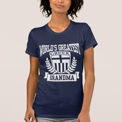 Abuela griega camisetas