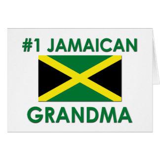 Abuela jamaicana #1 tarjeta de felicitación