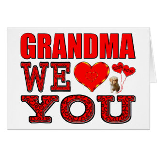 Abuela le amamos felicitacion