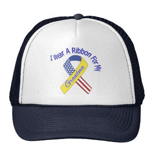 Abuela - llevo un patriótico militar de la cinta gorros