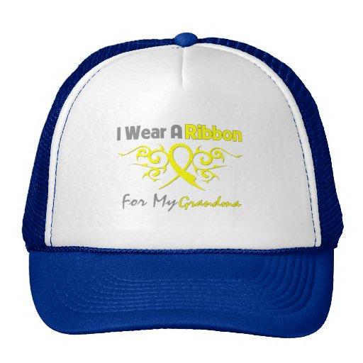 Abuela - llevo una ayuda amarilla de los militares gorra