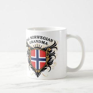 Abuela noruega del número uno taza de café