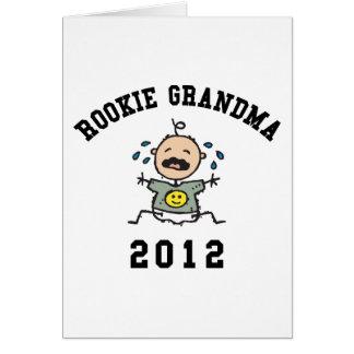 Abuela novata 2012 tarjeta de felicitación