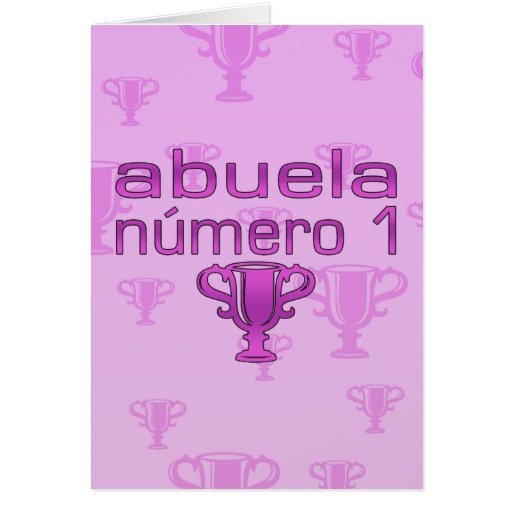 Abuela Número 1 Felicitaciones