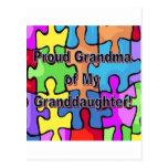 ¡Abuela orgullosa de mi nieta! Tarjetas Postales