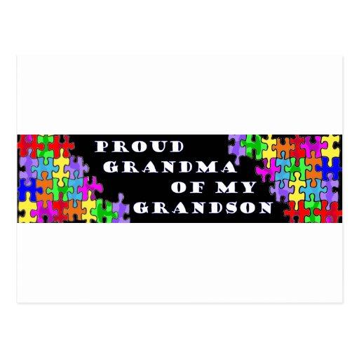 Abuela orgullosa de mi nieto tarjeta postal
