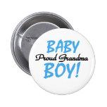 Abuela orgullosa del bebé chapa redonda de 5 cm