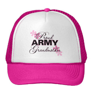 Abuela orgullosa del ejército gorra
