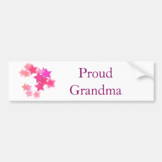 Abuela orgullosa pegatina para coche