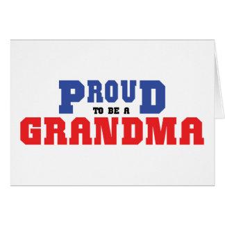 Abuela orgullosa tarjeta