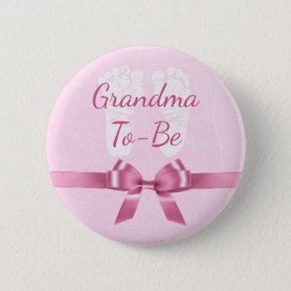 Abuela rosada del arco a ser botón de la fiesta de