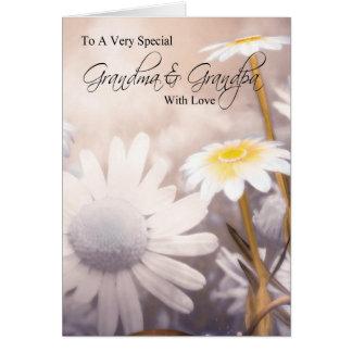 Abuela y abuelo - tarjeta del día de los abuelos -