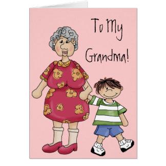 Abuela y nieto (diseños del abuelo) felicitacion