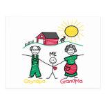 Abuela y yo del abuelo tarjeta postal