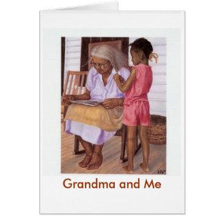 Abuela y yo tarjeta de felicitación