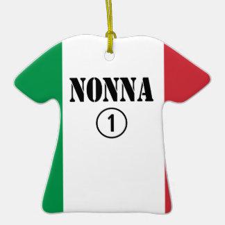 Abuelas italianas: Uno de Nonna Numero Adorno De Cerámica En Forma De Camiseta