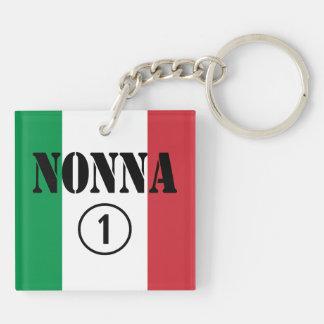 Abuelas italianas: Uno de Nonna Numero Llavero Cuadrado Acrílico A Doble Cara