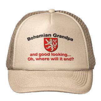 Abuelo bohemio apuesto gorras de camionero