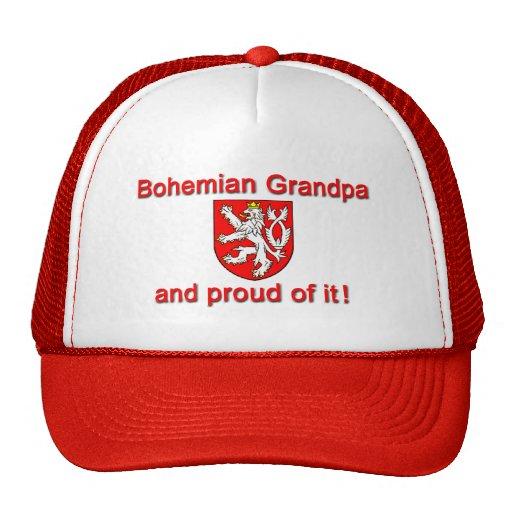 Abuelo bohemio orgulloso gorros bordados