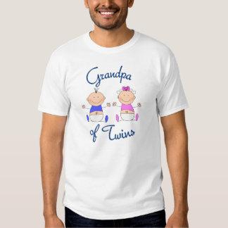 Abuelo de bebés gemelos camiseta