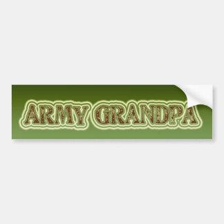 Abuelo del ejército pegatina para coche