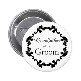 Abuelo elegante del boda del novio chapa redonda de 5 cm