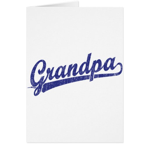 Abuelo en azul tarjeta