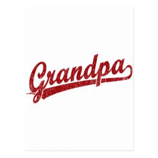 Abuelo en rojo postal