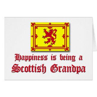 Abuelo escocés feliz felicitación