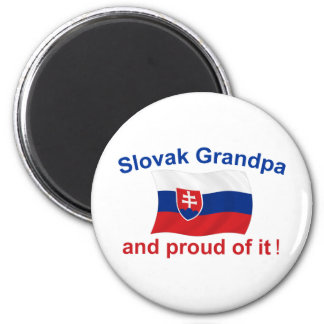 Abuelo eslovaco orgulloso imán para frigorífico