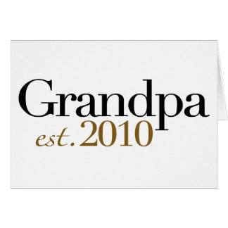 Abuelo Est 2010 Tarjeta De Felicitación