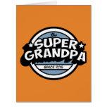 Abuelo estupendo divertido tarjeta de felicitación grande