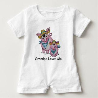 """Abuelo lindo de Oso el """"me ama"""" mameluco guarro Camisetas"""