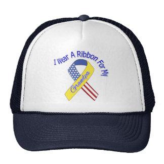 Abuelo - llevo un patriótico militar de la cinta gorra