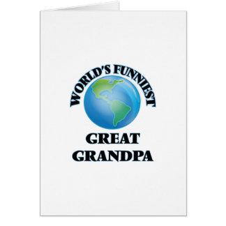 Abuelo más divertido del mundo el gran tarjeta de felicitación