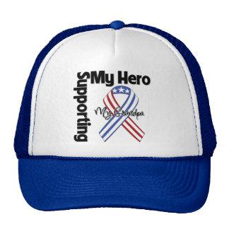 Abuelo - militar que apoya a mi héroe gorras de camionero