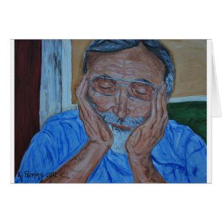 Abuelo soñoliento tarjeta de felicitación